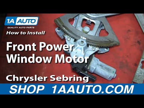 How To Install Replace Front Power Window Motor 2001-06 Chrysler Sebring 4 Door