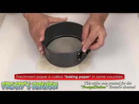 Quickly Line a Spring Form Pan with baking paper