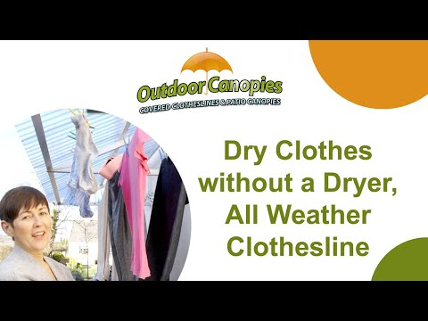 Dry clothes without dryer - All Weather Clothes Line, Covered Clothesline