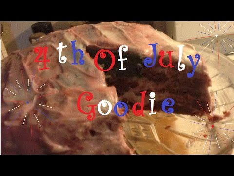 Rustic Flag Cake; 4th of July Goodie