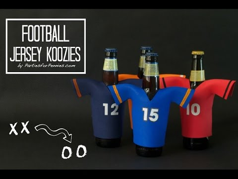 DIY Football Jersey Koozies