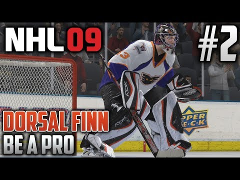 NHL 09 Retro Be a Pro | Dorsal Finn (Goalie) | EP2 | FIRST CAREER SHUTOUT?