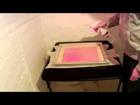Applying an emulsion sheet to a screen