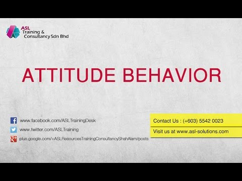 Attitude & Behavior To Build Quality Mindset - ASL Training
