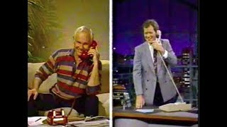 Johnny Carson Faxes Joke to Dave on Late Night, May 2, 1990