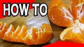 覚えておくべきのミカンのむき方2種 ライフハック How To Peel Orange Funny Things【便利裏技】