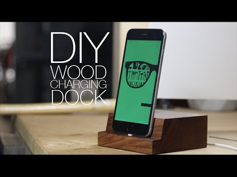 Make Wooden iPhone Charging Dock - DIY Project
