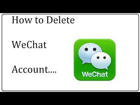 wechat account delete || wechat delete account 2017