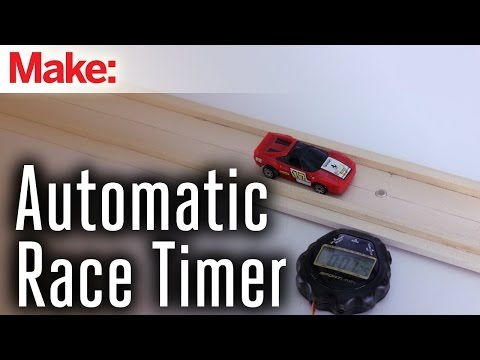 Sensor-Triggered Toy Race Car Timer