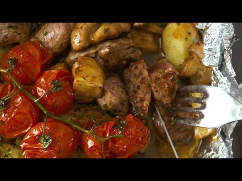 Garlic Steak Foil Pack