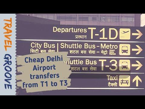 Delhi Airport transfer between domestic and international terminals