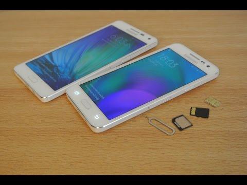 Samsung Galaxy A5, A3, A7 - How to Insert SIM Card & Micro SD Card HD