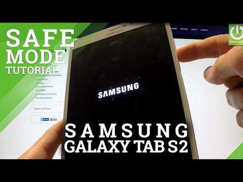 Safe Mode SAMSUNG Galaxy Tab S2 8.0 - HOW TO ENTER and QUIT Safe Mode
