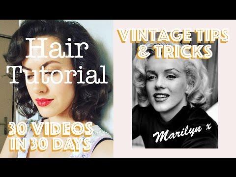 Marilyn Monroe Hair Tutorial + Day #2⎜30 VIDEOS IN 30 DAYS
