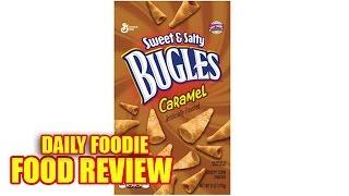 Caramel Bugles Review - Sweet & Salty Funnel Shape Corn Snack