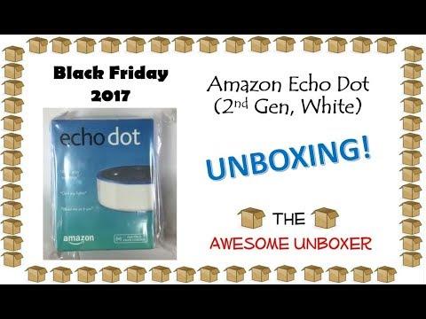Amazon Echo Dot (2nd Generation, White) unboxing! - Black Friday 2017!
