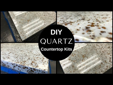 HOW TO: DIY White Quartz Countertop Resurfacing Kits//Leggari's New Countertop Kit