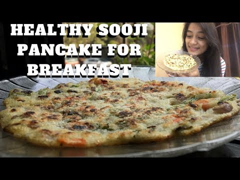 Healthy Sooji Pancake Recipe For Breakfast (Veg) | Breakfast With WORKitOUT