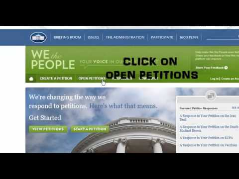 How to sign Petition of White House