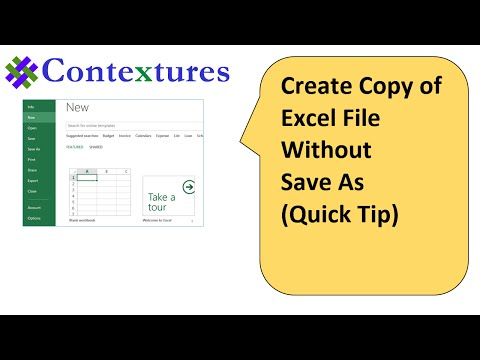 Create Copy of Excel File Without Save As: Quick Tip