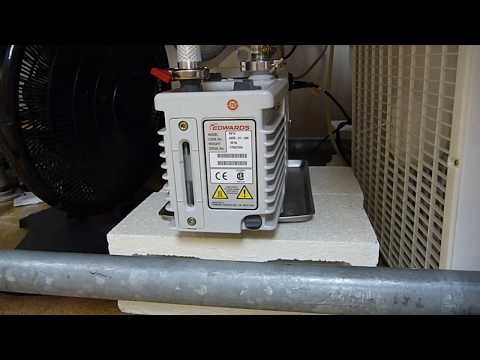 Extra fan air COOLING of vacuum PUMP ...TEMP DROP 20 to 25 degrees C  .... [auxiliary cooling plus]