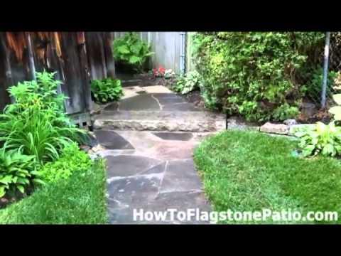Flagstone Patio, Walkway, Dry Laid Wall & Natural Stone Steps