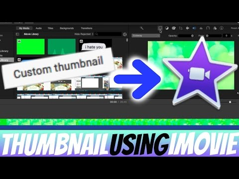HOW TO MAKE A THUMBNAIL IN IMOVIE !