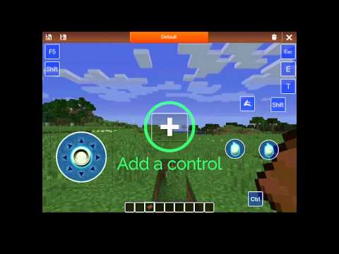 Custom controls with remote gaming for Minecraft