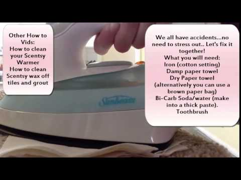 HOW TO CLEAN HOT WAX OUT OF CARPET