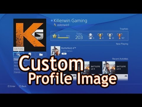 How to Use a Custom Profile Picture on Playstation 4 (Edit Image, Facebook Avatar, Upload your own)