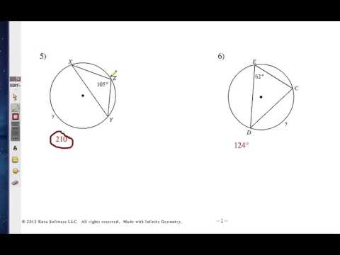 Finding Inscribed Angles and Arcs: Challenge 1