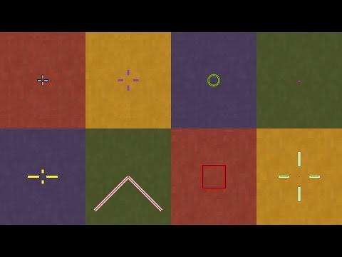 Minecraft Crosshair Mod Review/Showcase (Forge 1.7.10-1.11.2) (Custom Crosshair Mod)