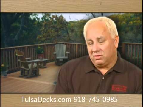Tulsa decks: Franklin and Sons initial deck design including railings, stairs, benches and steps