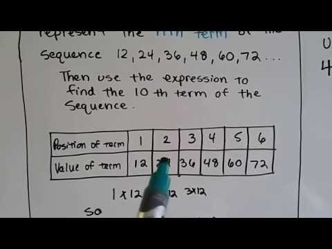 Grade 6 Math #10.7, Patterns and Sequences