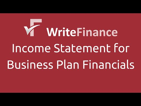 Income Statement - Financial Forecasts for Business Plans Part 4 of 8