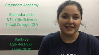 B.Sc. Student Qualifies CSIR-NET/JRF Life Science (68 Rank) | CSIR NET LIFE SCIENCE COACHING