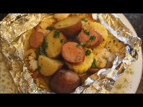 Easy Shrimp & Sausage Bake