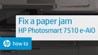 Fixing a Paper Jam - HP Photosmart C5180 All-in-One Printer