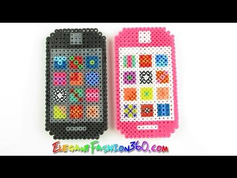 DIY Perler/Hama Beads Iphone 3D - How to  Tutorial