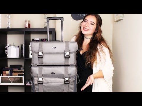 The Best Makeup Travel Bag | Seya 2 in 1 Professional Makeup Artist Rolling Makeup Train Case