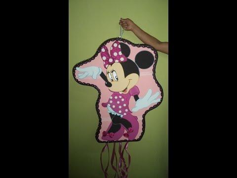 Como hacer Piñata Minnie Mouse - DIY