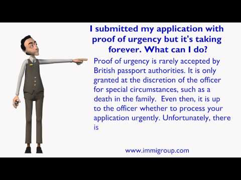 I submitted my application with proof of urgency but it's taking forever. What can I do?