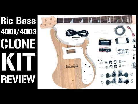 Rickenbacker 4001/4003 Bass DIY Kit Review (Mod Bass Kit-The Fretwire, RC-4/RCA-4 Pit Bull Guitars)