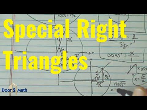 *Trig Value of Special Triangles: sin(30), cos(30), sin(45), cos(45), sin(60), cos(60)