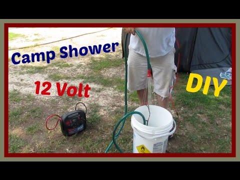 DIY camping shower