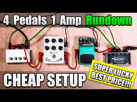Cheapest Pedals for Royal Blood Style Effects with 1 Amp