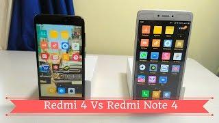 Redmi 4 Vs Redmi Note 4 - Battle between Redmi