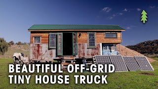 Beautiful 85% Recycled Off-Grid Tiny House Truck