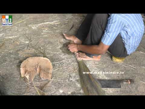 MAKING OF SWEEPING STICK | BROOM | HOUSE CLEANING STICE MAKING |