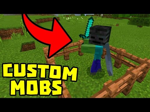 CUSTOMIZE MOBS using COMMAND BLOCKS in MINECRAFT POCKET EDITION!!!